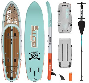 Bote Rackham Inflatable Paddle Board Package